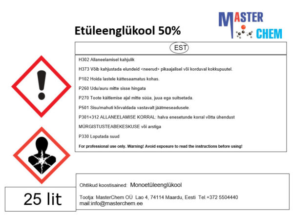 Ethylene glycol (CAS 107-21-1)