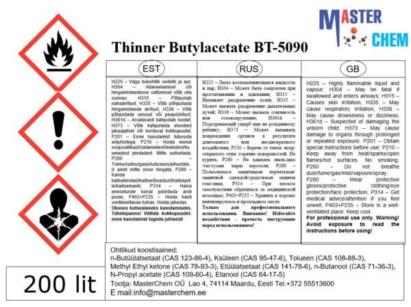 Lahusti Butüülatsetaat BT-5090