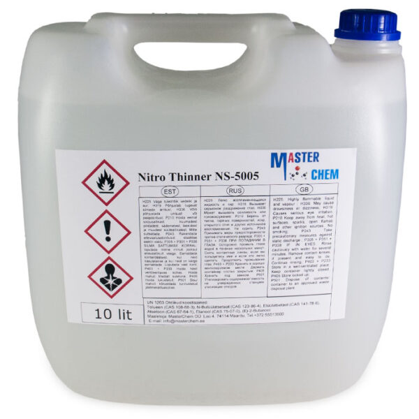 THINNER NITRO NS-5005 industrial thinner 10l MasterChem