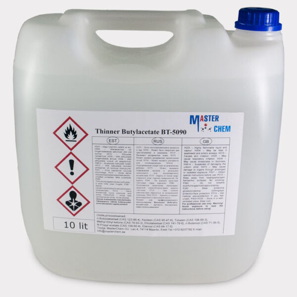 Thinner  Butyl acetate BT-5090 10l MasterChem