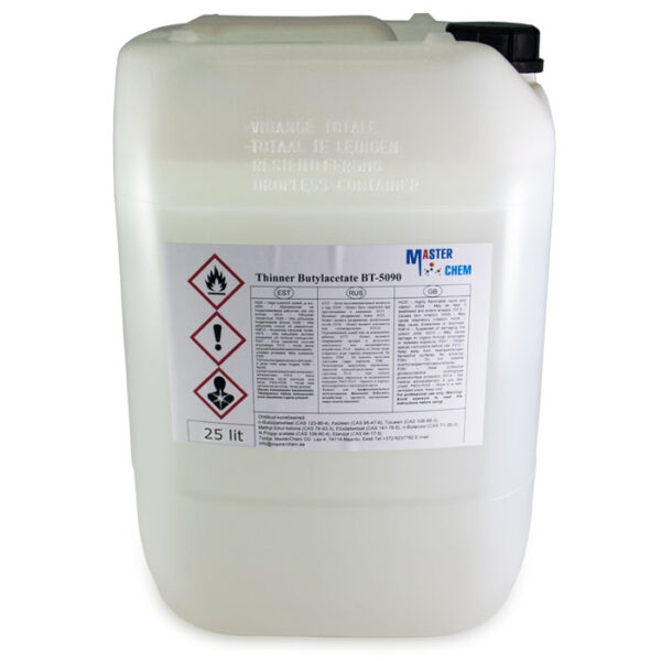 Thinner  Butyl acetate BT-5090 25l MasterChem