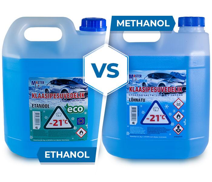 Klaasipesuvedelikud etanoli ja metanoli MasterChem