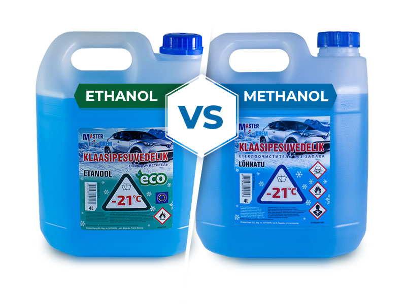 Klaasipesuvedelikud ethanol and methanol MasterChem