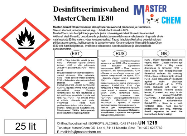 MasterChem IE80 дезинфицирующее средство