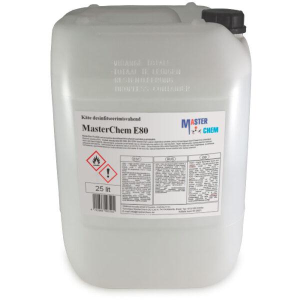 E80 disinfectant for HANDS 25l MasterChem