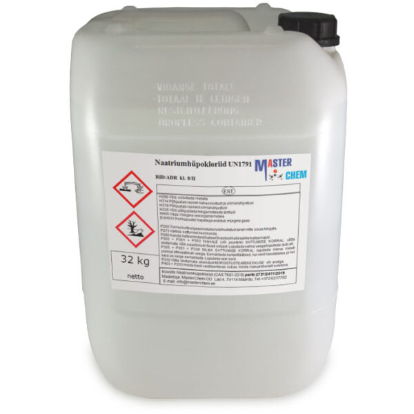 Naatriumhüpoklorit 12-15% CAS 7681-52-9 25l MasterChem