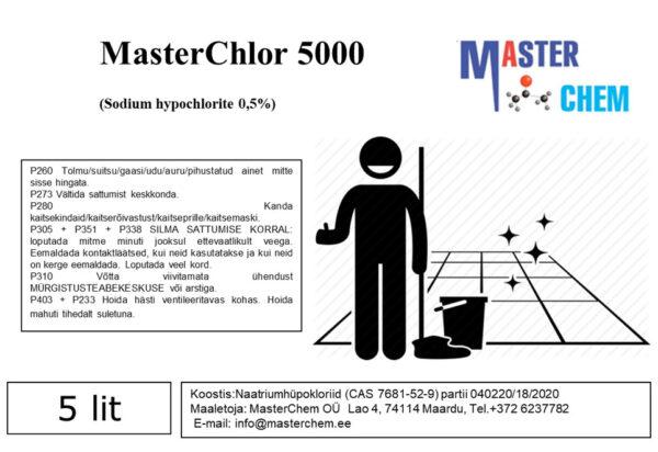 MasterChlor 5000 (Sodium hypochlorite 0,5%)