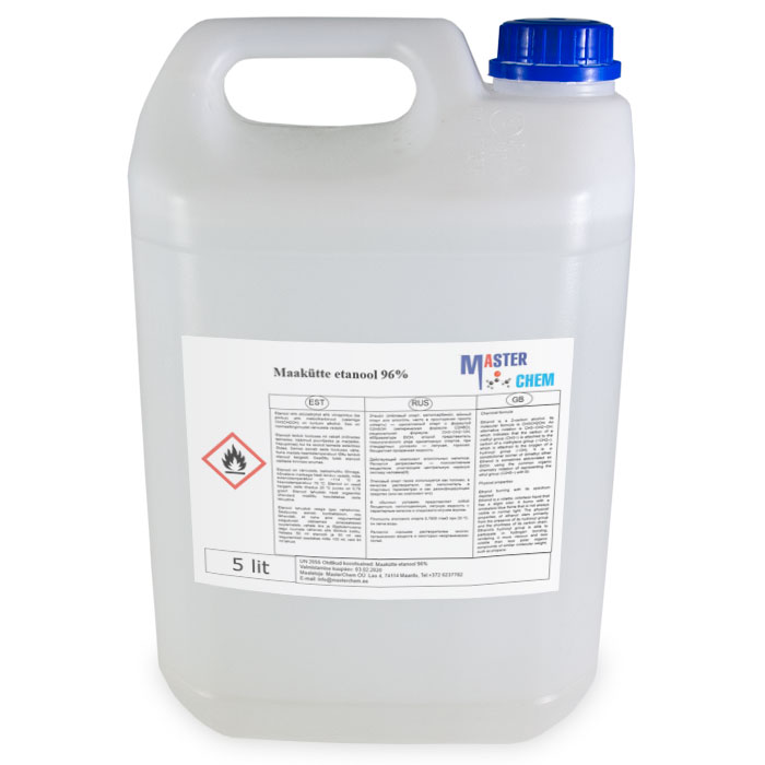 Fluid geothermal heat systems (ethanol 96%) 5L MasterChem