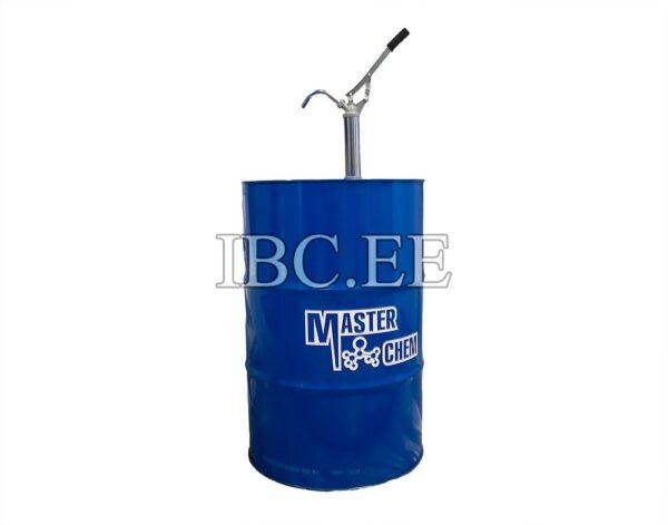 Rummupumpun siirto käsikäyttöisesti teräksestä valmistetulle dieselöljyliuottimelle