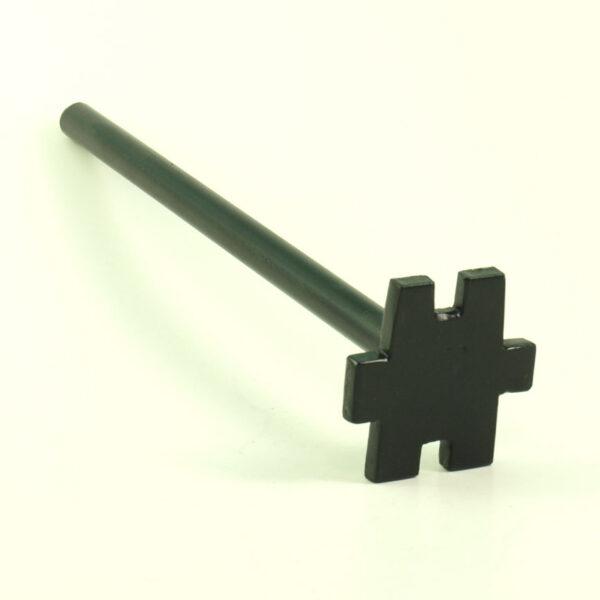 Terasest ühekordne mutrivõti trumlitele metallist plastist võtme jaoks