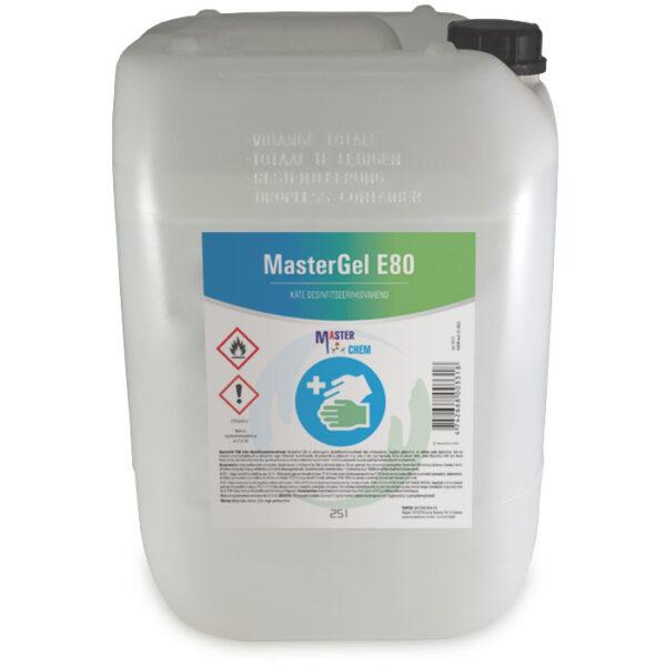 Desinfitseerimisgeel kätele MasterGel E80 desinfitseerimisvahend 25L